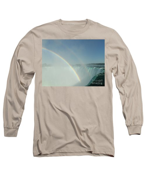 Long Sleeve T-Shirt featuring the photograph Double Rainbow by Brenda Brown