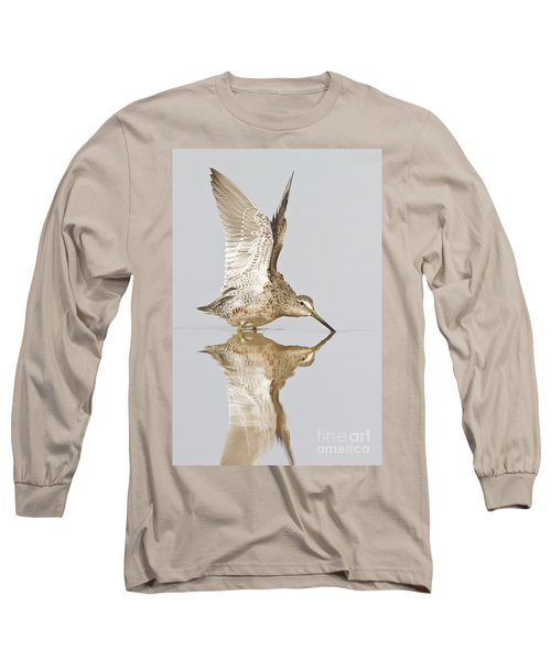 Dowitcher Wing Stretch Long Sleeve T-Shirt by Bryan Keil