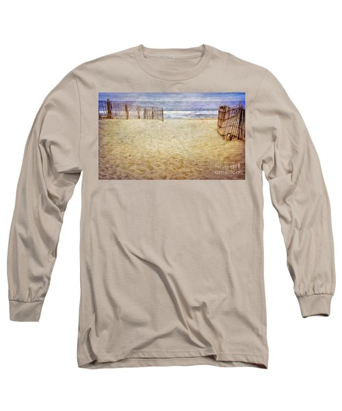 Long Sleeve T-Shirt featuring the photograph Down The Shore by Debra Fedchin