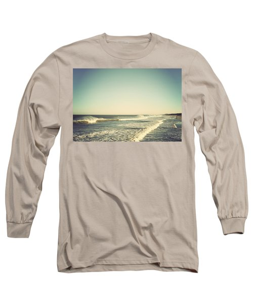 Down The Shore - Seaside Heights Jersey Shore Vintage Long Sleeve T-Shirt by Terry DeLuco