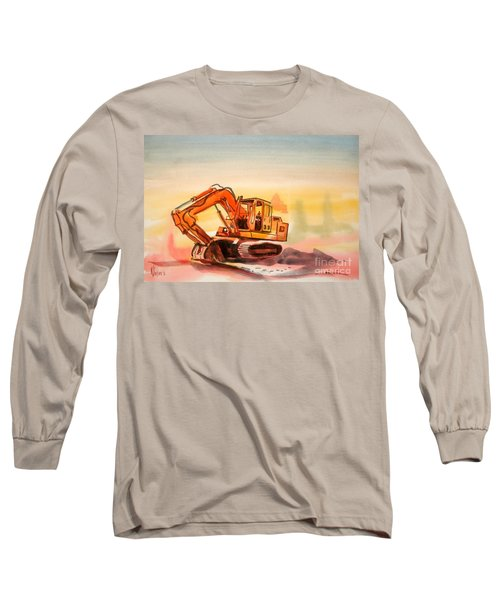 Dozer In Watercolor  Long Sleeve T-Shirt