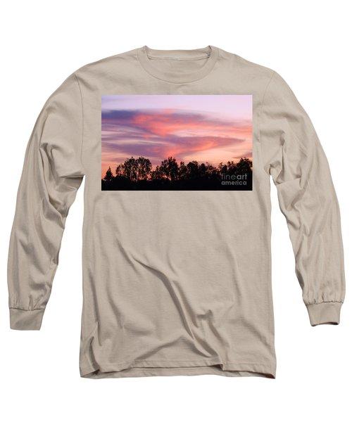 Long Sleeve T-Shirt featuring the photograph Dragon Clouds by Meghan at FireBonnet Art