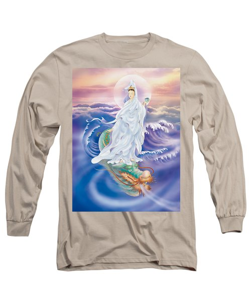 Long Sleeve T-Shirt featuring the photograph Dragon-riding Avalokitesvara  by Lanjee Chee