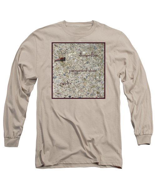 Long Sleeve T-Shirt featuring the photograph Dragonflies Haiga by Judi and Don Hall