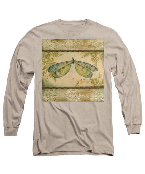Dragonfly Among The Ferns-1 Long Sleeve T-Shirt