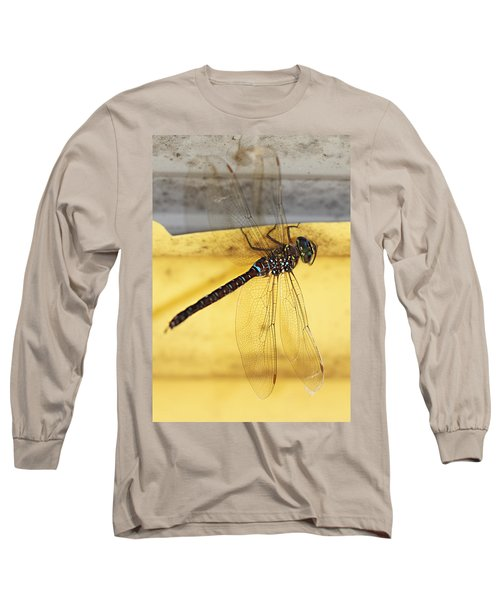 Long Sleeve T-Shirt featuring the photograph Dragonfly Web by Melanie Lankford Photography