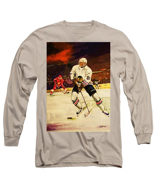 Long Sleeve T-Shirt featuring the painting Drama On Ice by Al Brown