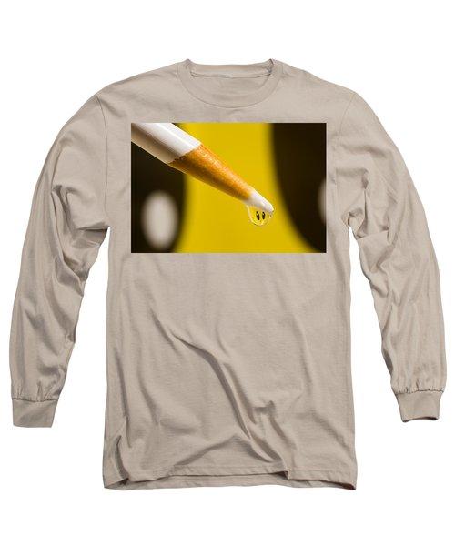 Happy Water Drop Pencil Long Sleeve T-Shirt