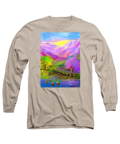 Long Sleeve T-Shirt featuring the painting Dream Lake by Jane Small