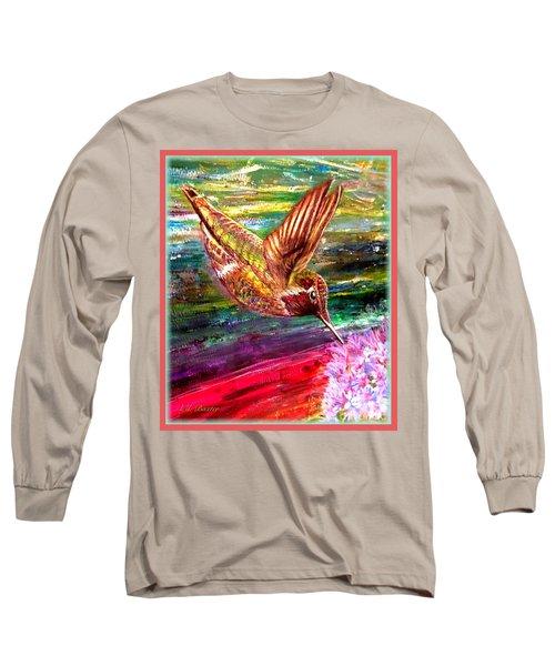 Dream Of A Hummingbird  Long Sleeve T-Shirt