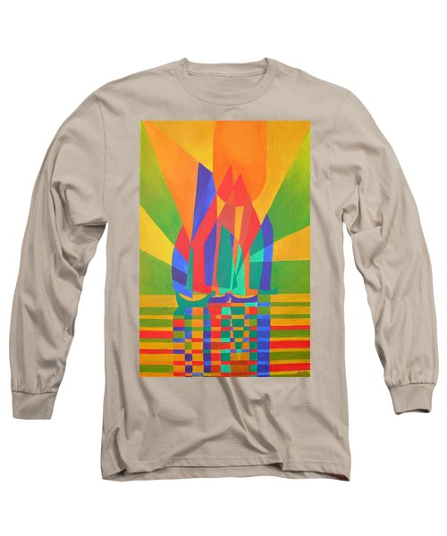 Long Sleeve T-Shirt featuring the painting Dreamboat by Tracey Harrington-Simpson