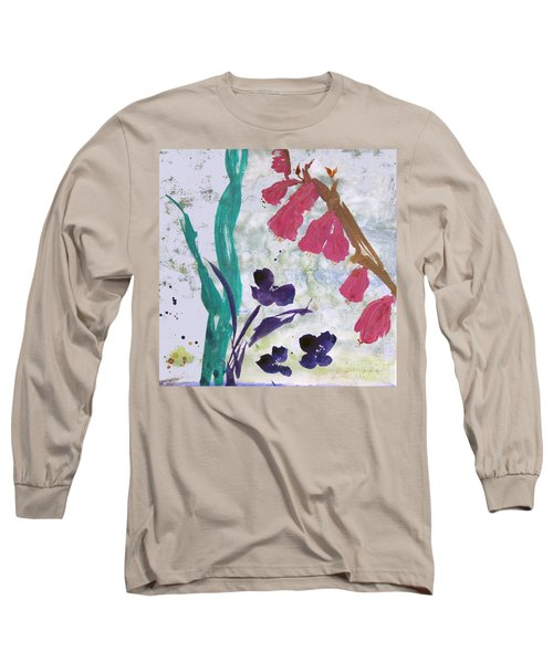 Dreamy Day Flowers Long Sleeve T-Shirt