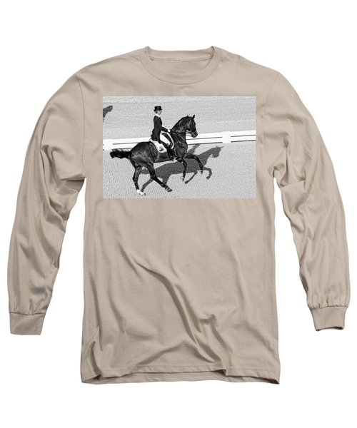 Dressage Une Noir Long Sleeve T-Shirt