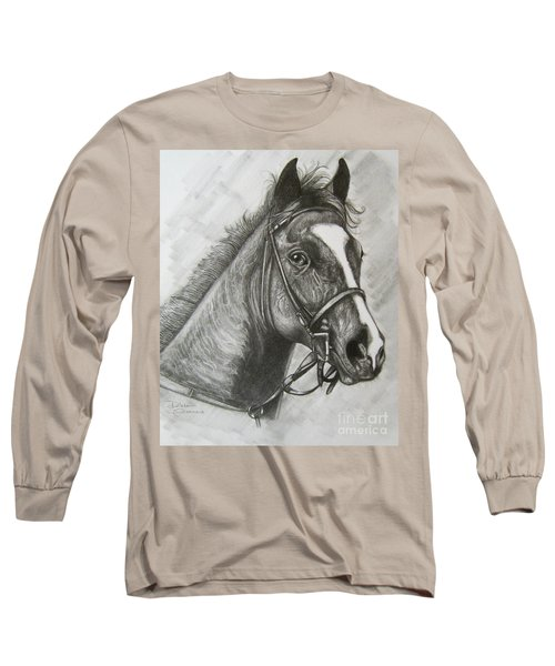 Long Sleeve T-Shirt featuring the drawing Dullahan by Patrice Torrillo