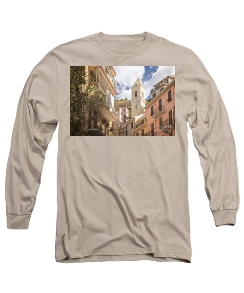 Duomo Bell Tower Of Manarola Long Sleeve T-Shirt