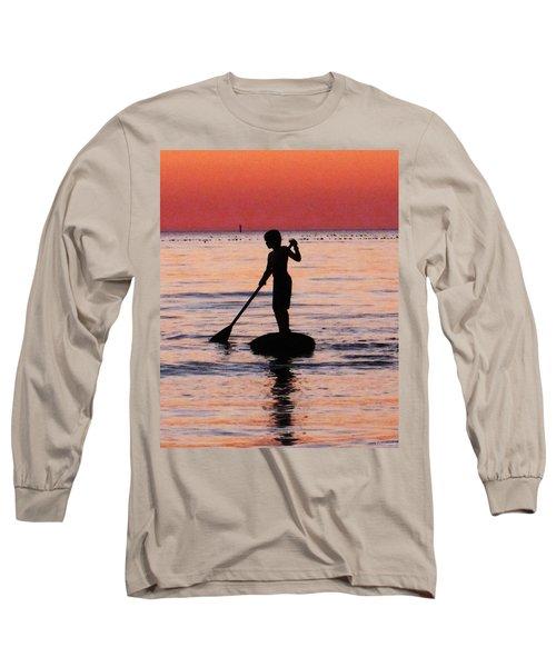 Dusk Float - Sunset Art Long Sleeve T-Shirt