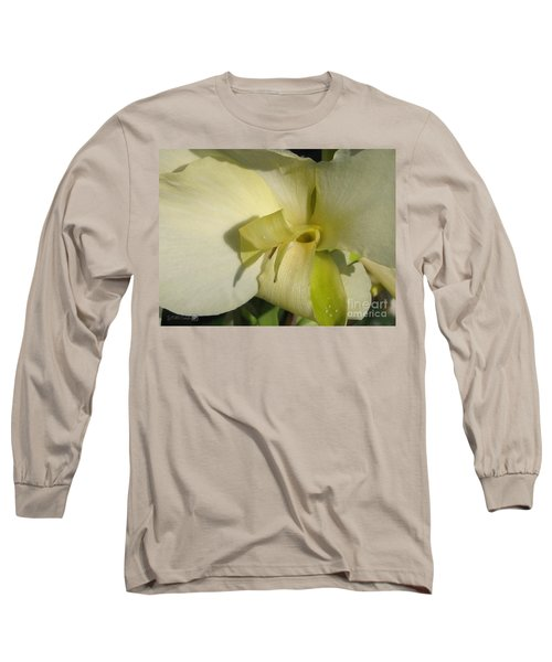 Dwarf Canna Lily Named Ermine Long Sleeve T-Shirt by J McCombie