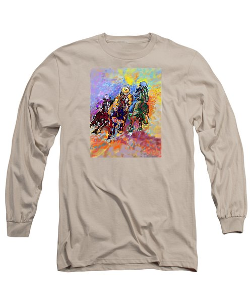Long Sleeve T-Shirt featuring the digital art Dynamic Winner by Mary Armstrong