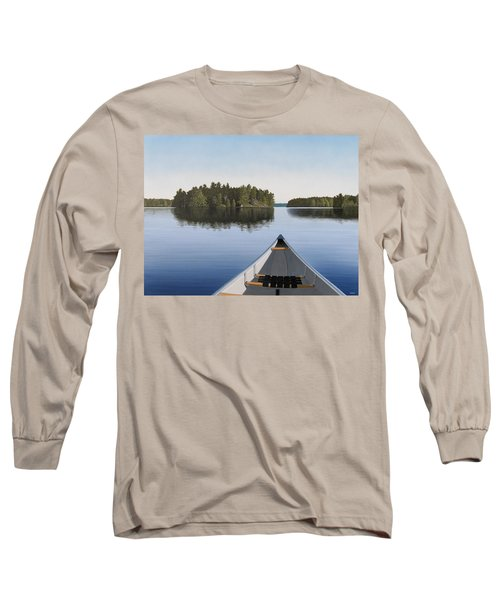 Early Evening Paddle  Long Sleeve T-Shirt by Kenneth M  Kirsch