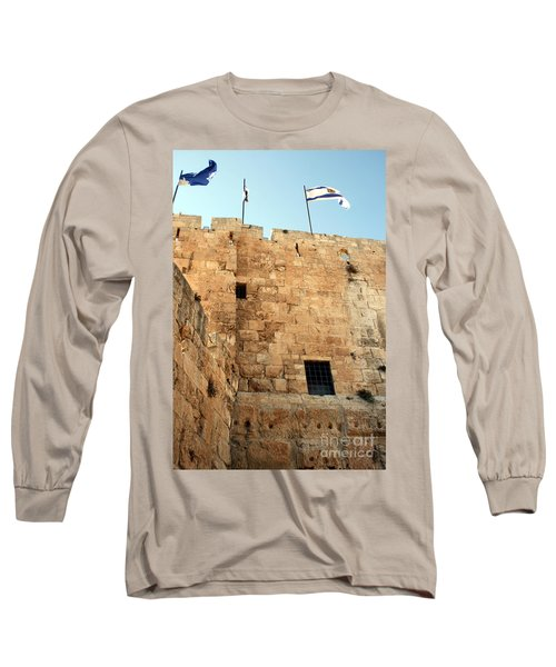 Long Sleeve T-Shirt featuring the photograph Early Morning At The Jaffa Gate by Doc Braham