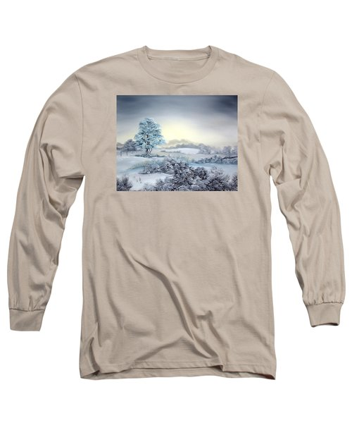 Early Morning Snows Long Sleeve T-Shirt by Jean Walker