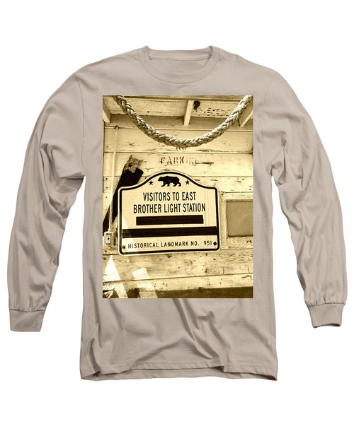 East Brother Light Station Visitor Sign Long Sleeve T-Shirt