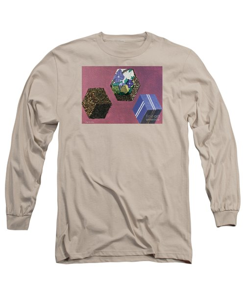 Long Sleeve T-Shirt featuring the painting Easter Cubes - Painting by Megan Dirsa-DuBois
