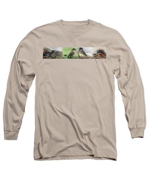 Eastern Phoebe Family Long Sleeve T-Shirt