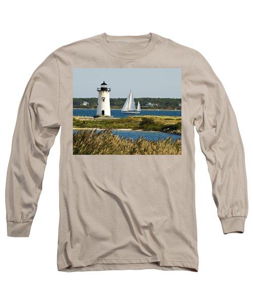 Edgartown Light At Martha's Vineyard Long Sleeve T-Shirt
