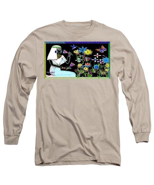 Long Sleeve T-Shirt featuring the digital art Egyptian Flower  Garden by Hartmut Jager