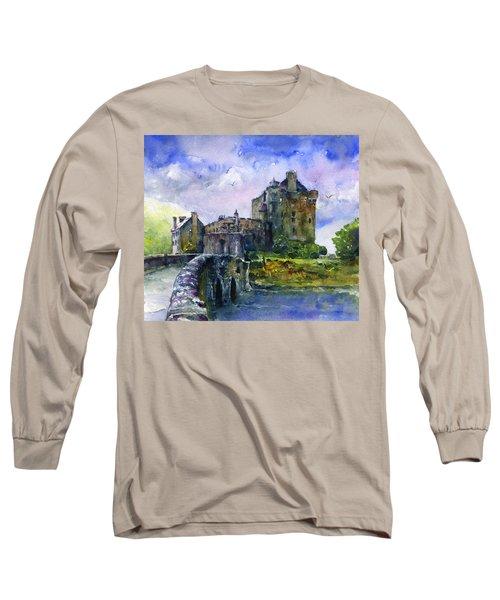 Eilean Donan Castle Scotland Long Sleeve T-Shirt by John D Benson