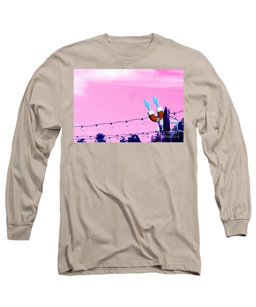 Electric Pink Long Sleeve T-Shirt by Valerie Reeves