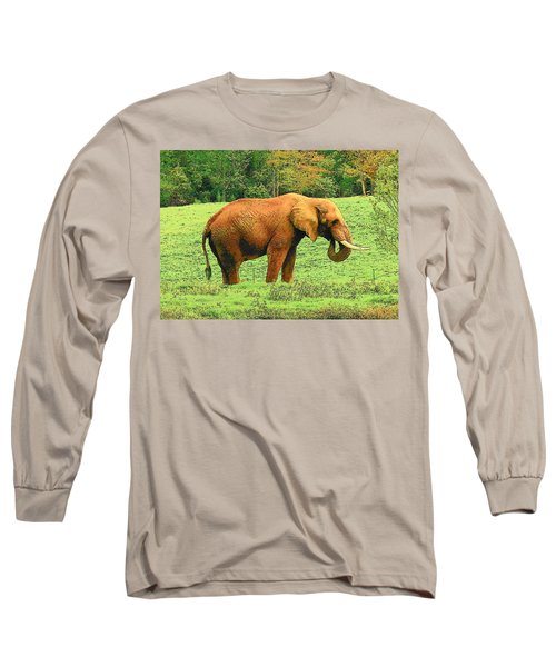 Long Sleeve T-Shirt featuring the photograph Elephant by Rodney Lee Williams
