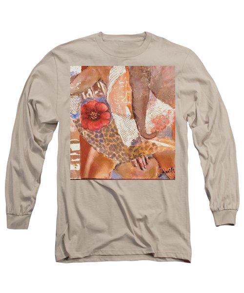 Elephant Walk Long Sleeve T-Shirt by Glory Wood
