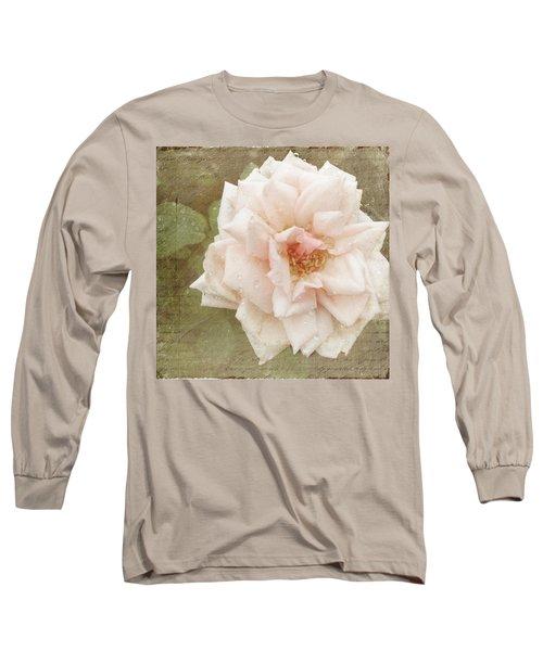 Elie Beauvillain Rose Textured Art Long Sleeve T-Shirt