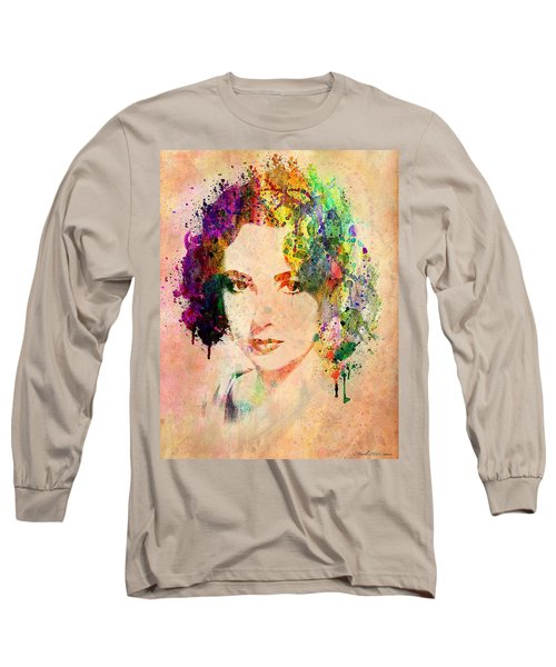 Elizabeth Taylor Long Sleeve T-Shirt by Mark Ashkenazi