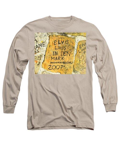 Long Sleeve T-Shirt featuring the photograph Elvis Lives In Denmark by Lizi Beard-Ward