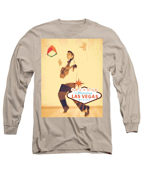 Elvis On Tv Long Sleeve T-Shirt