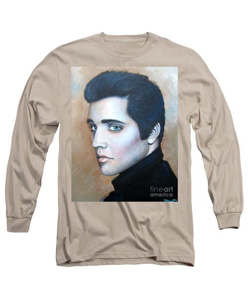 Long Sleeve T-Shirt featuring the painting Elvis by Patrice Torrillo