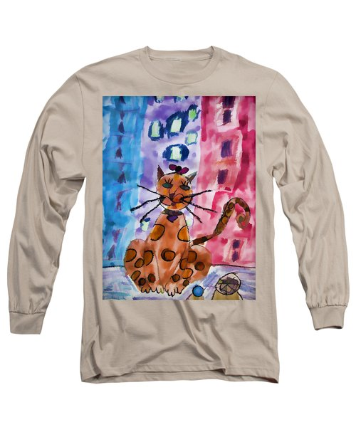 Emma's Spotted Kitty Long Sleeve T-Shirt