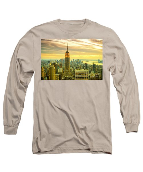Empire State Building In The Evening Long Sleeve T-Shirt