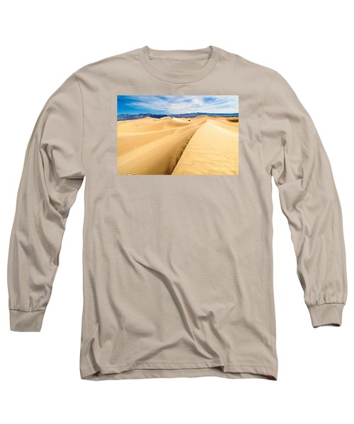 Endless Dunes - Panoramic View Of Sand Dunes In Death Valley National Park Long Sleeve T-Shirt