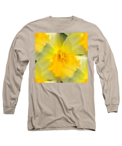 Long Sleeve T-Shirt featuring the photograph Endless Yellow Daffodil by Judy Palkimas