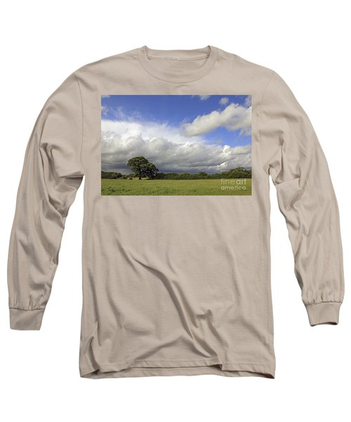 English Oak Under Stormy Skies Long Sleeve T-Shirt
