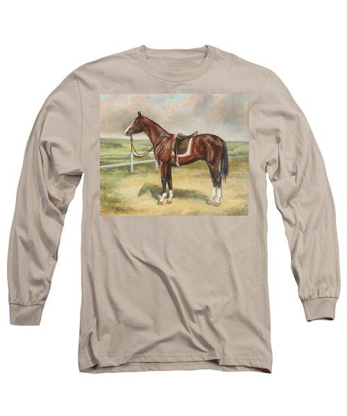 English Stallion Dark Bay Long Sleeve T-Shirt