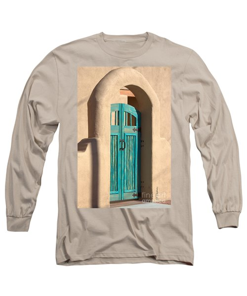Long Sleeve T-Shirt featuring the photograph Enter Turquoise by Barbara Chichester