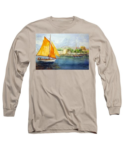 Entering The Port - Foca Izmir Long Sleeve T-Shirt