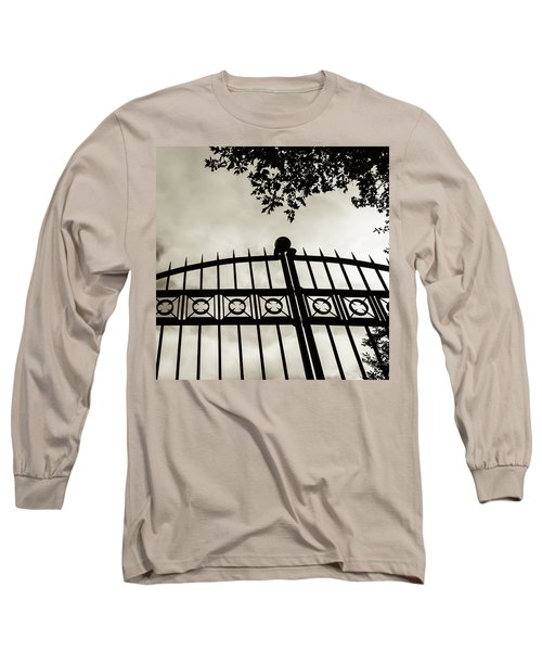 Entrances To Exits - Gates Long Sleeve T-Shirt by Steven Milner