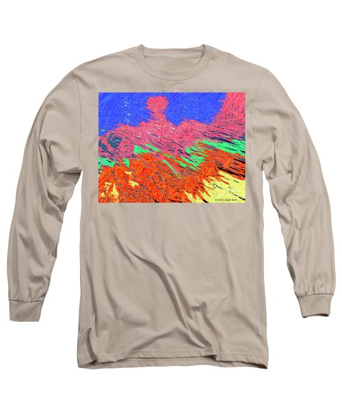 Erupting Lava Meets The Sea Long Sleeve T-Shirt by Joseph Baril