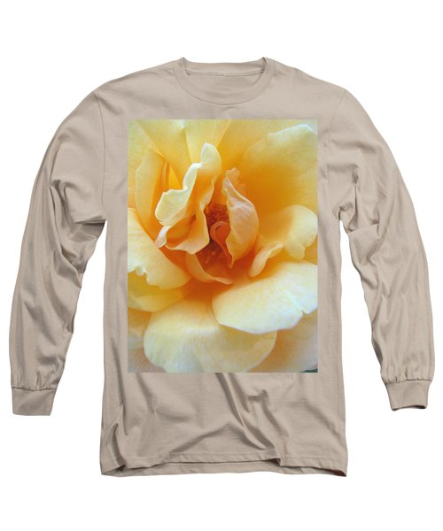 Lightness Of Being - Yellow Rose Macro -floral Art From The Garden Long Sleeve T-Shirt